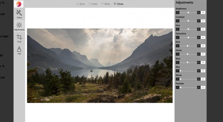 Customized editor screenshot